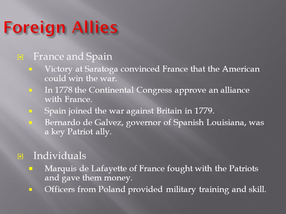 Foreign Allies France and Spain Individuals