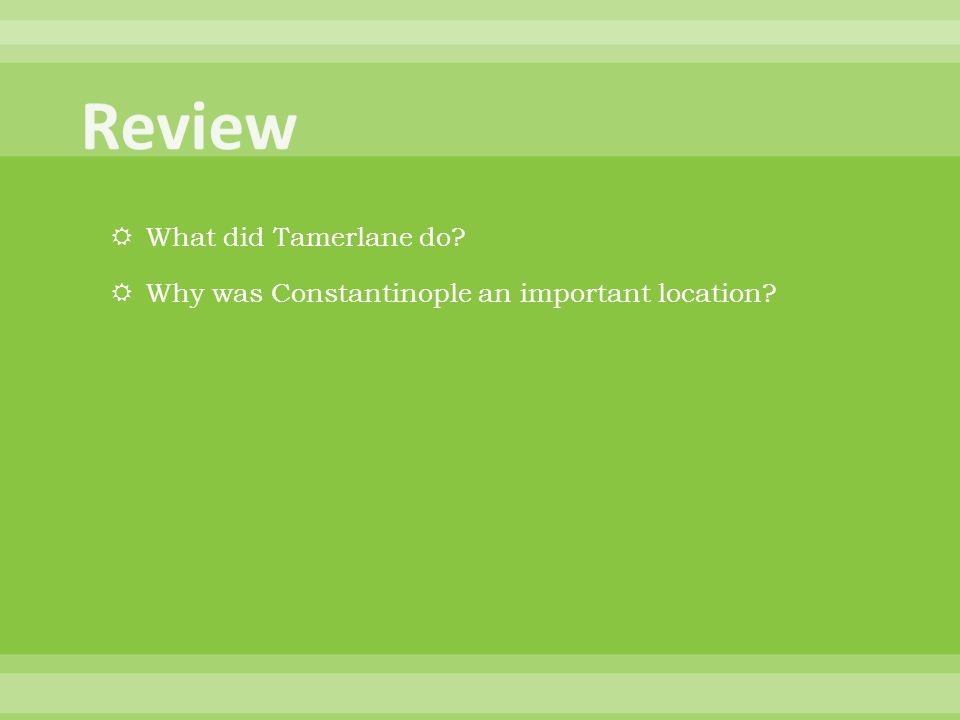 Review What did Tamerlane do