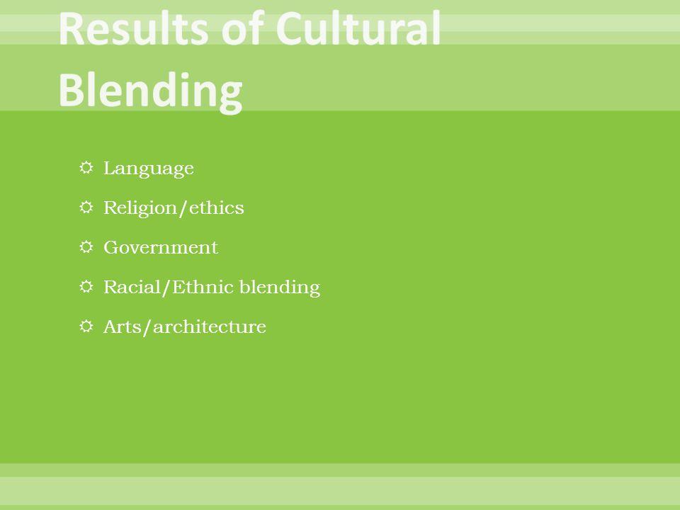 Results of Cultural Blending