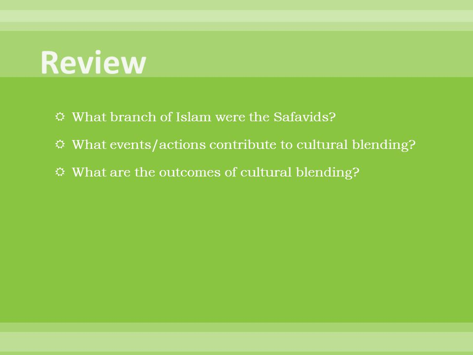 Review What branch of Islam were the Safavids