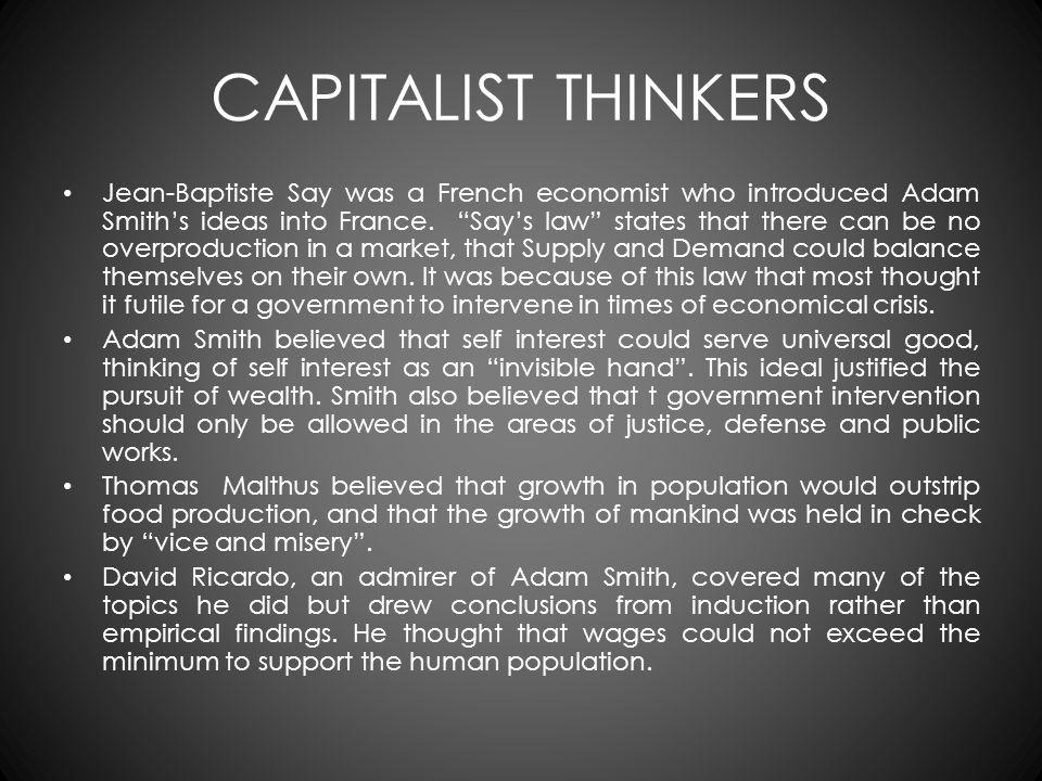 CAPITALIST THINKERS