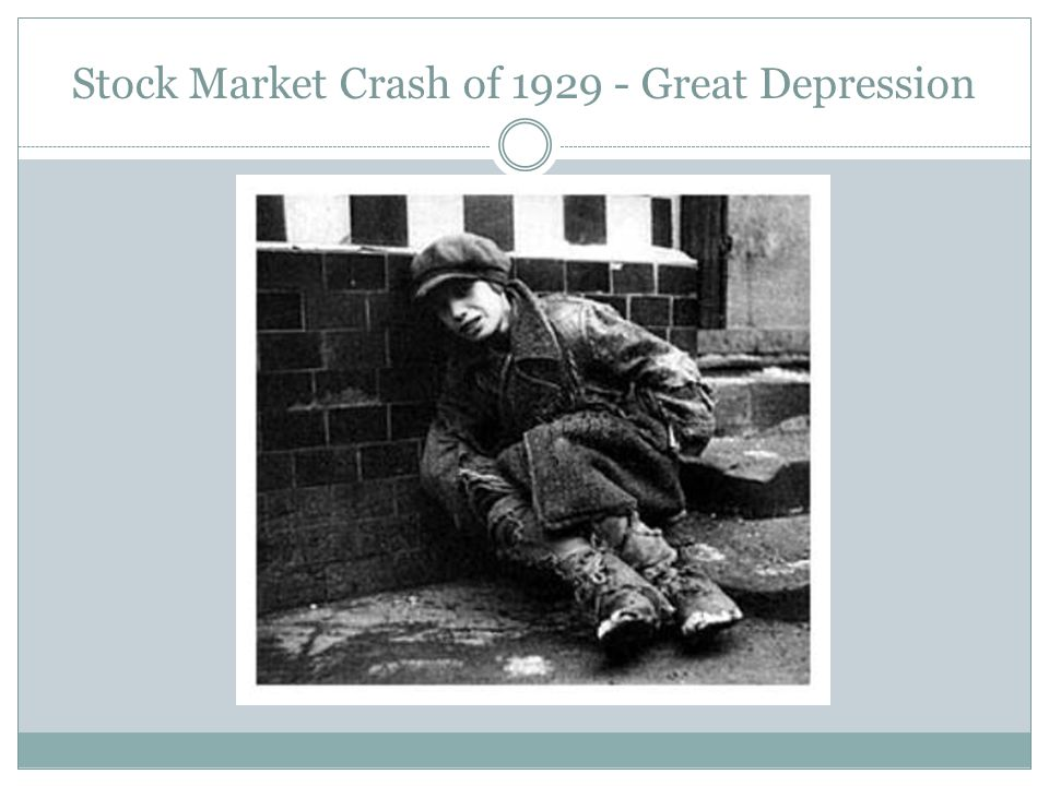 Stock Market Crash of 1929 - Great Depression