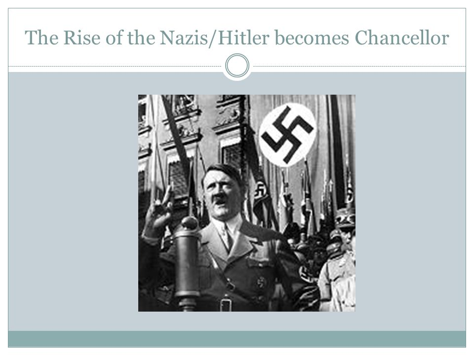 The Rise of the Nazis/Hitler becomes Chancellor