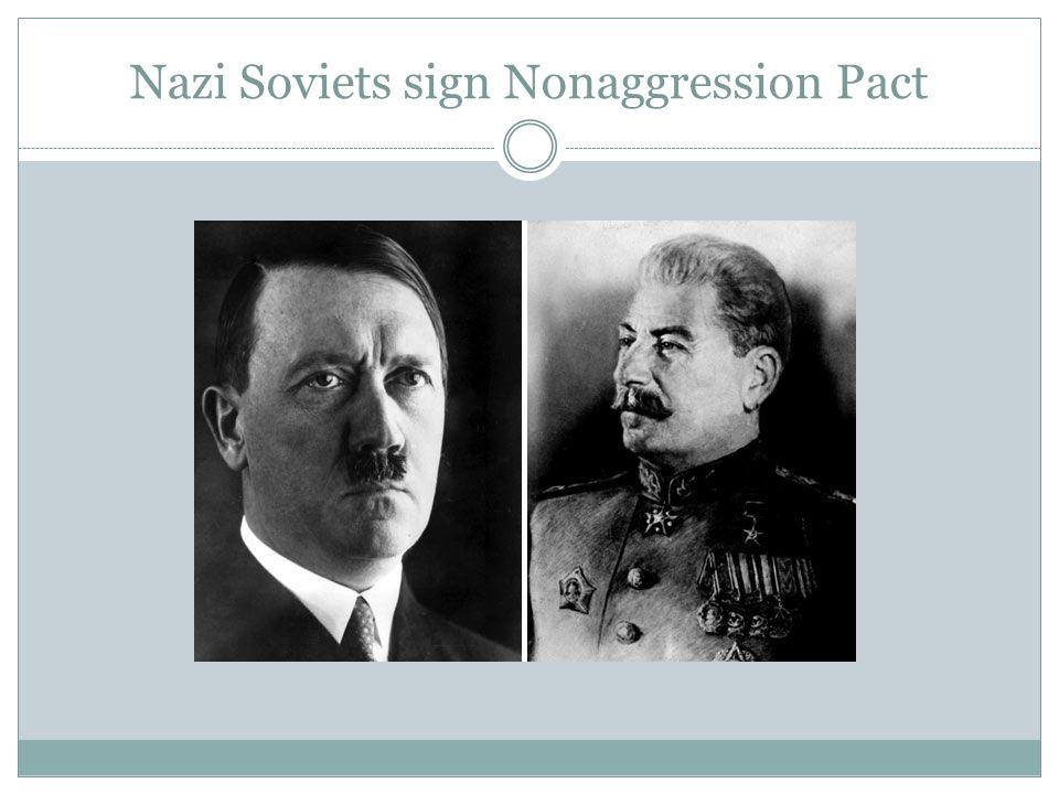 Nazi Soviets sign Nonaggression Pact