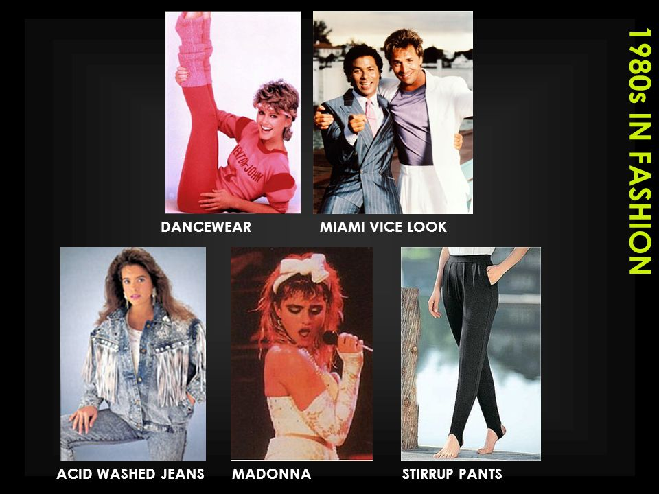 1980s IN FASHION DANCEWEAR MIAMI VICE LOOK ACID WASHED JEANS MADONNA