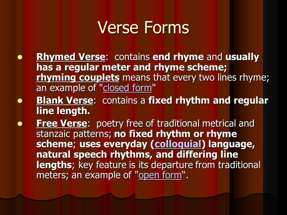Verse Forms
