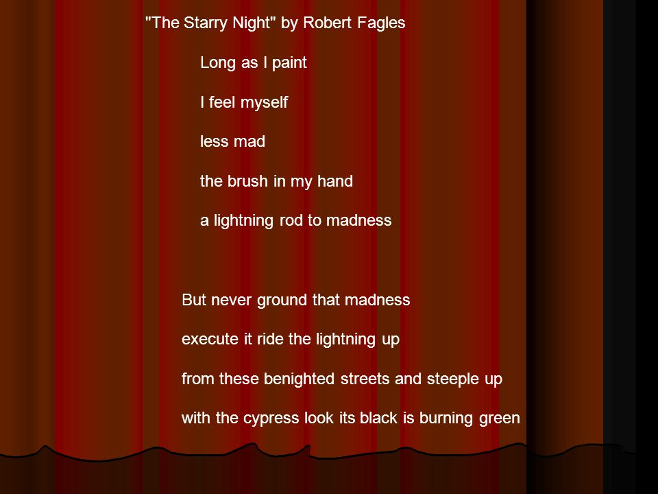 The Starry Night by Robert Fagles