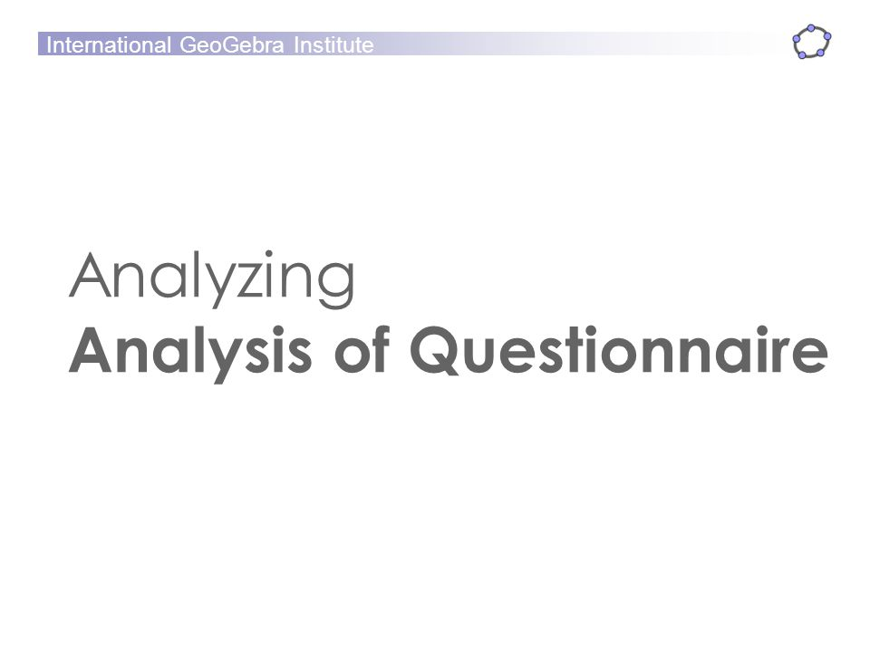 Analyzing Analysis of Questionnaire