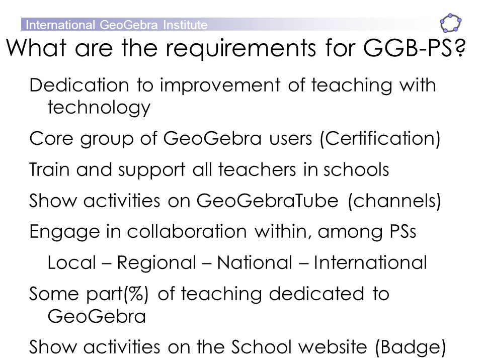 What are the requirements for GGB-PS