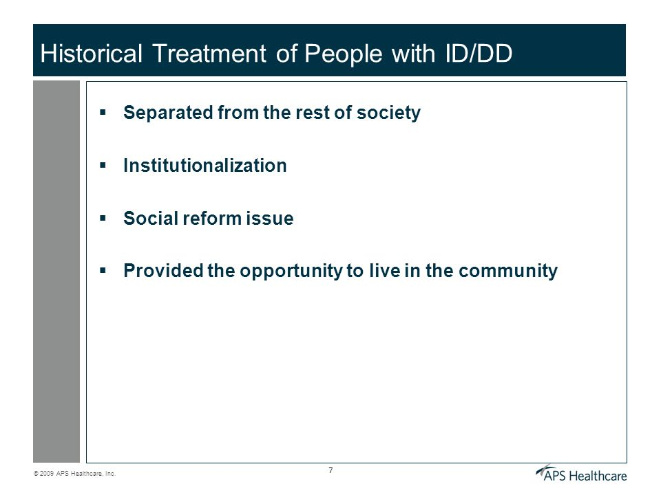 Historical Treatment of People with ID/DD