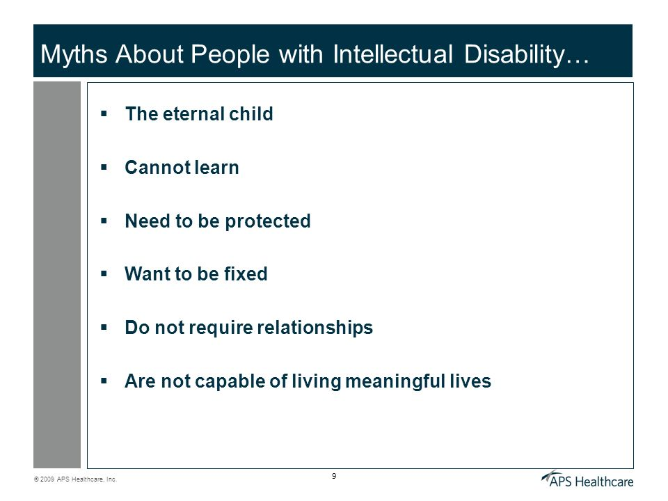 Myths About People with Intellectual Disability…