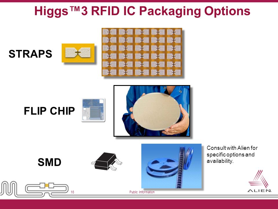 Higgs™3 RFID IC Packaging Options