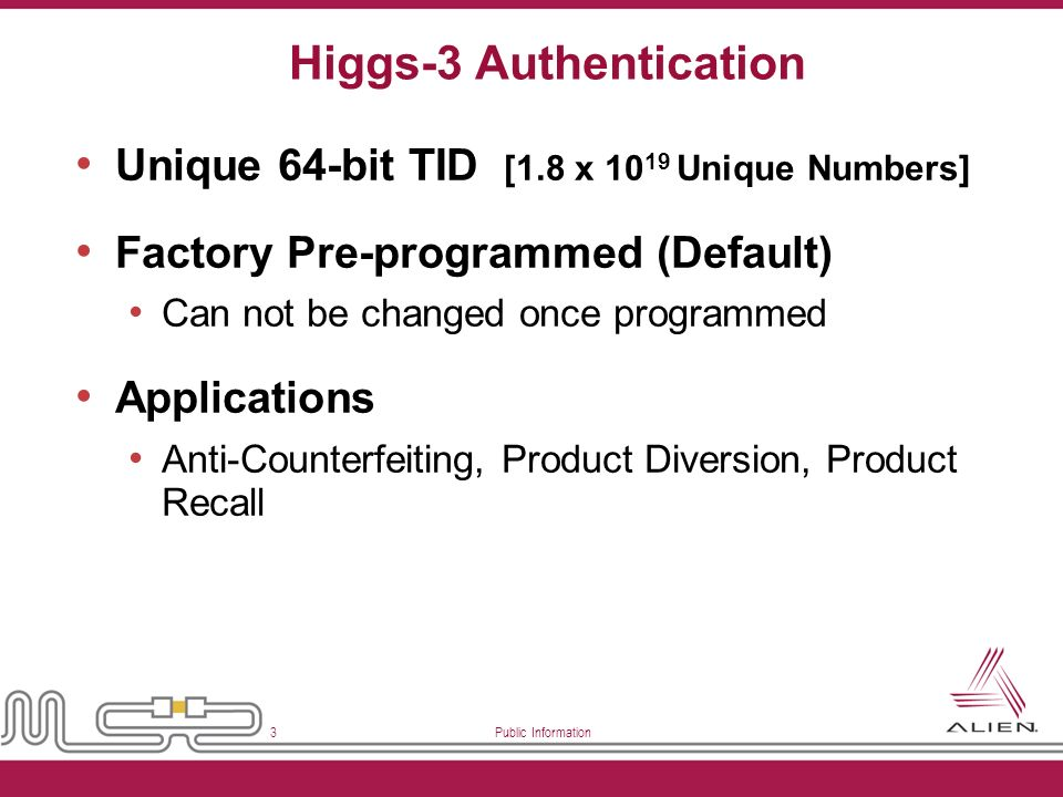 Higgs-3 Authentication