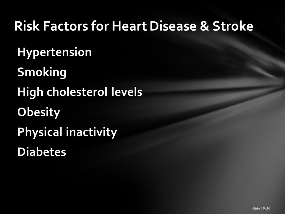 Risk Factors for Heart Disease & Stroke