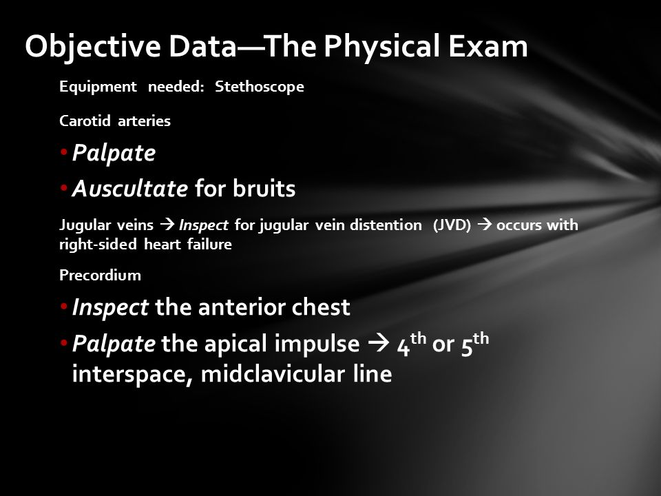 Objective Data—The Physical Exam