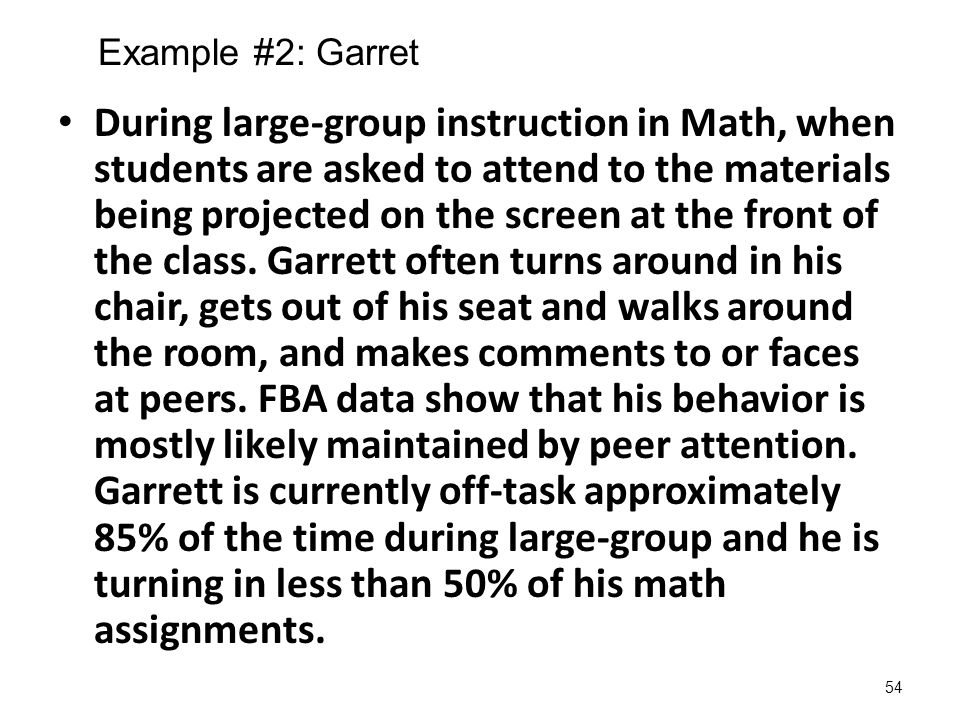 Example #2: Garret
