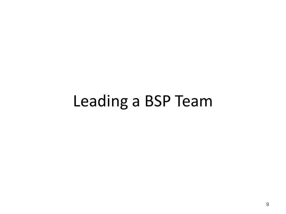 Leading a BSP Team