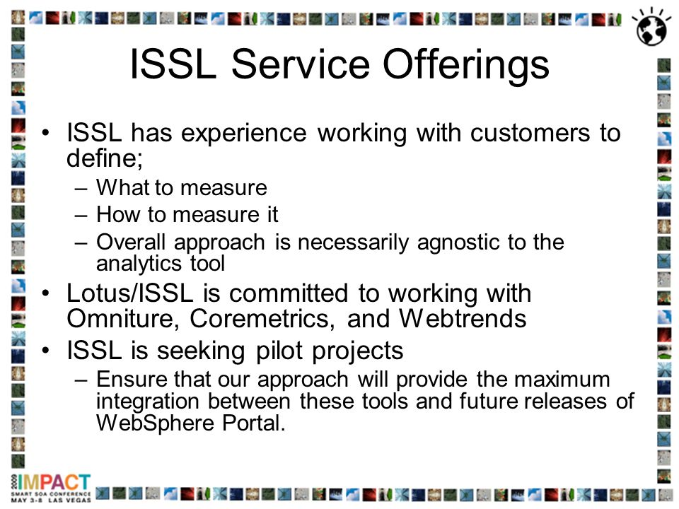 ISSL Service Offerings