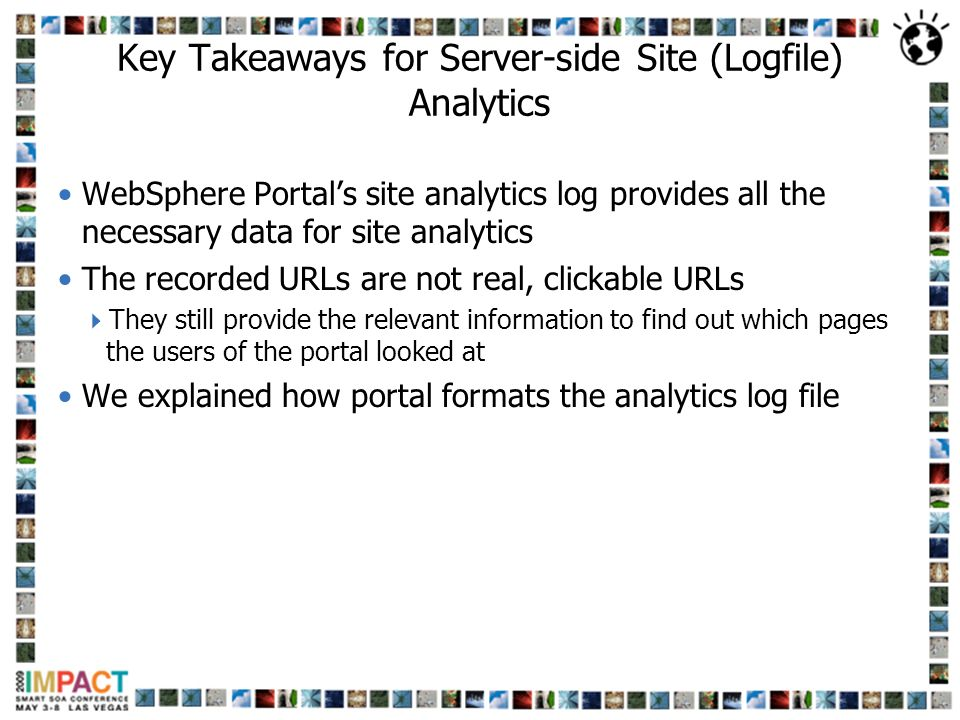 Key Takeaways for Server-side Site (Logfile) Analytics