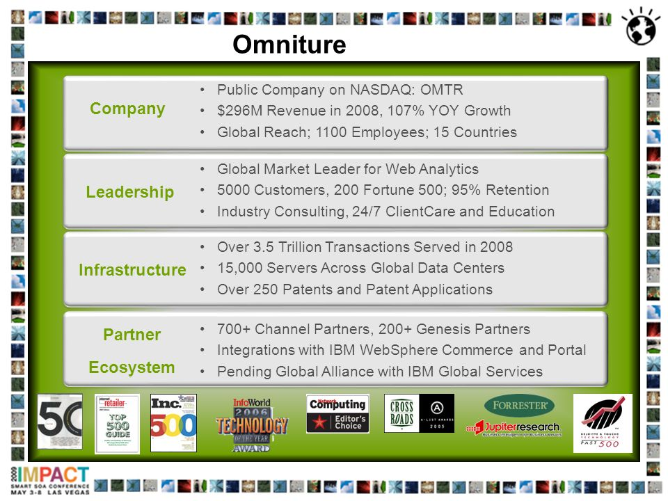 Omniture Company Leadership Infrastructure Partner Ecosystem