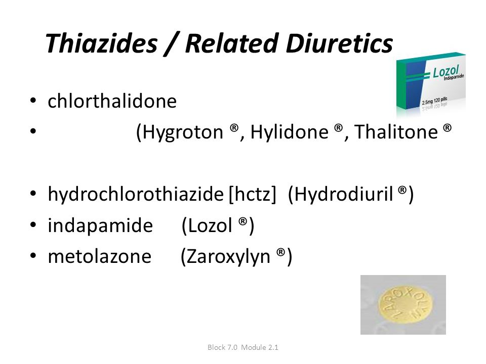 Thiazides / Related Diuretics