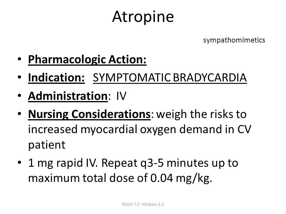 Atropine sympathomimetics