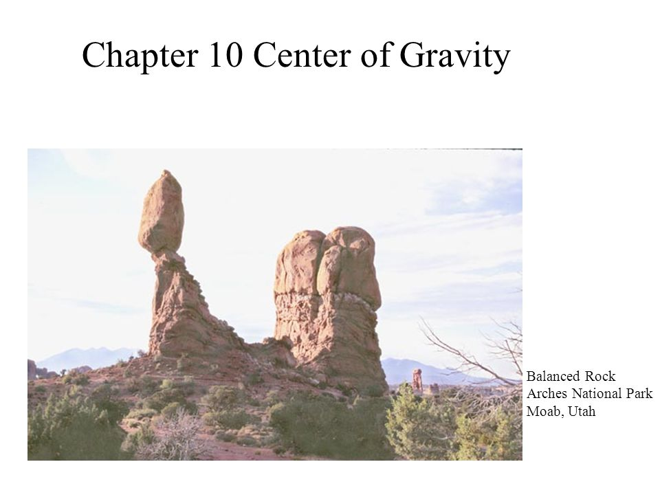 Chapter 10 Center of Gravity