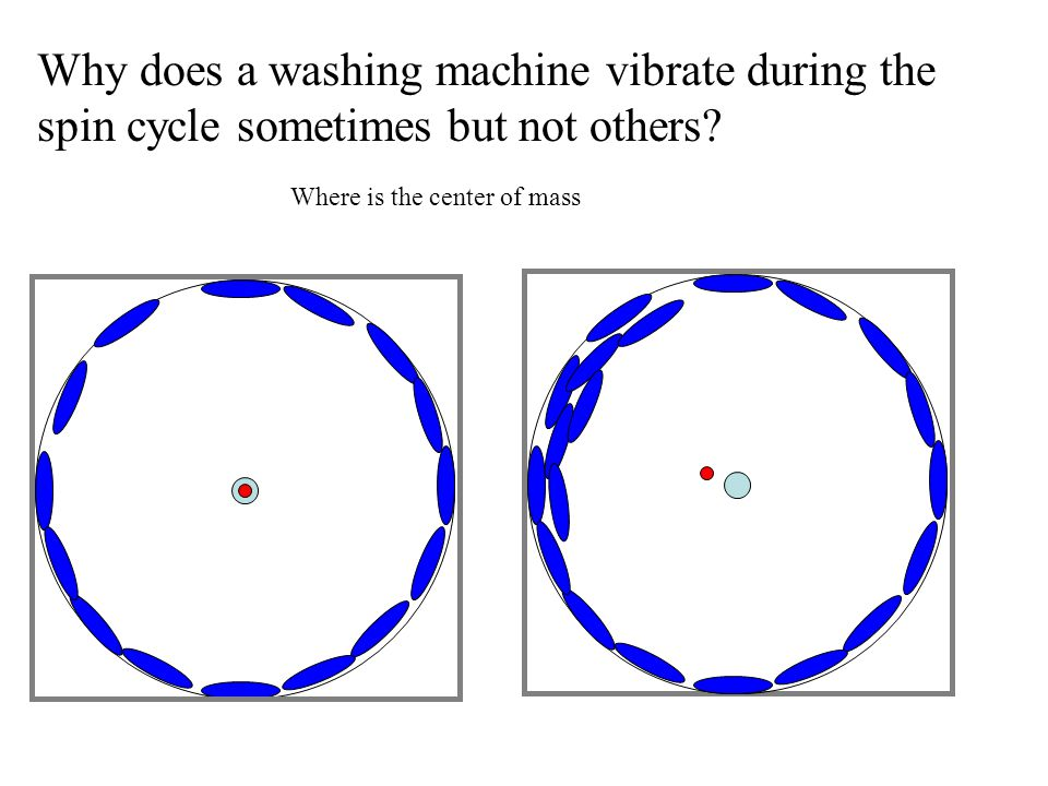 Why does a washing machine vibrate during the spin cycle sometimes but not others