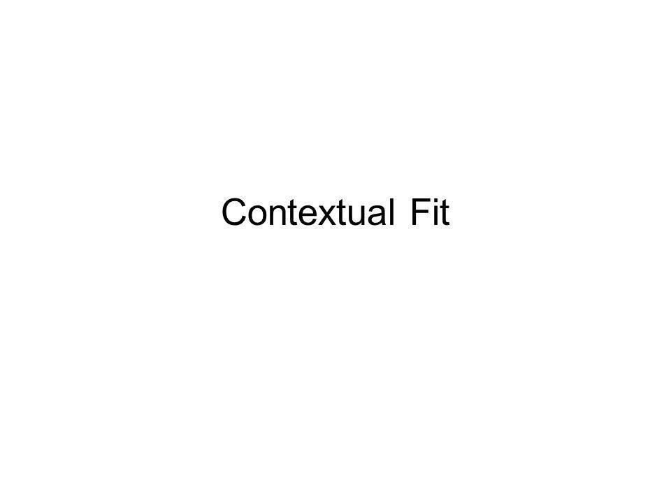 Contextual Fit