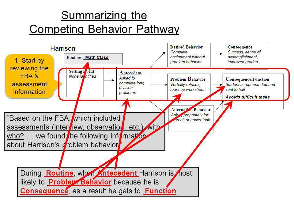 Summarizing the Competing Behavior Pathway