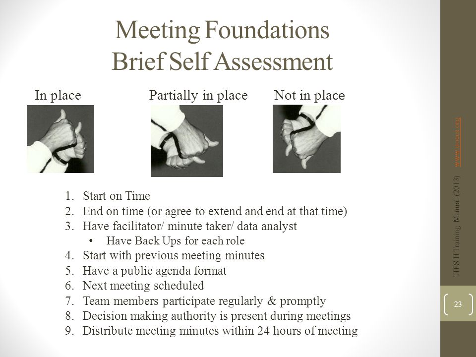 Meeting Foundations Brief Self Assessment
