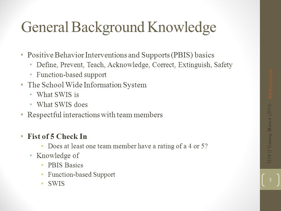 General Background Knowledge