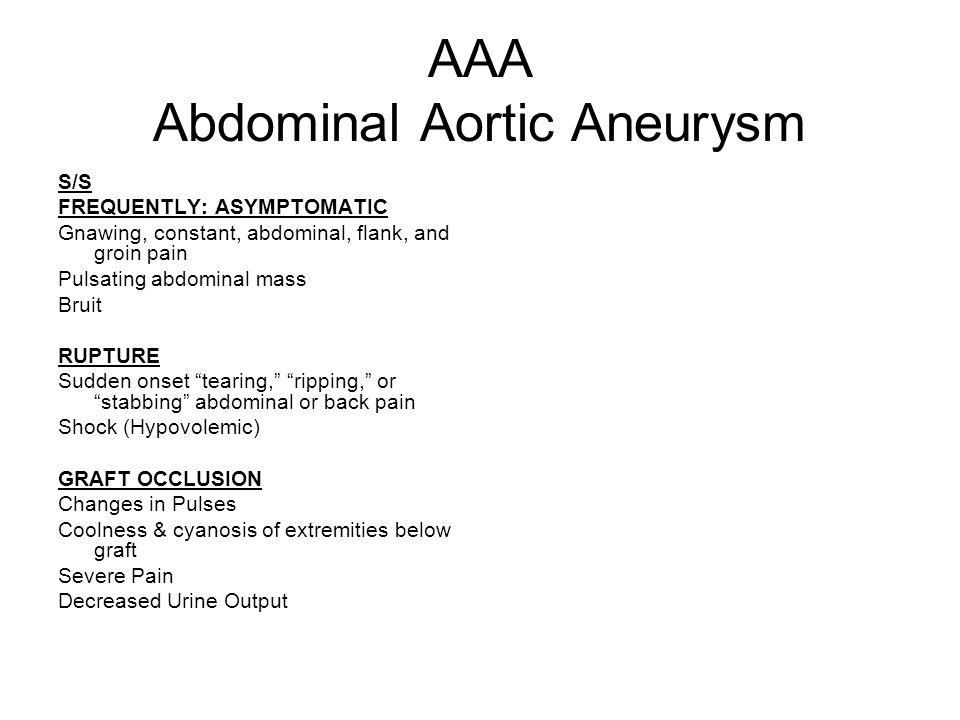 AAA Abdominal Aortic Aneurysm