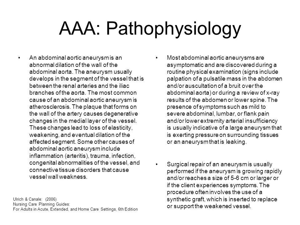 AAA: Pathophysiology