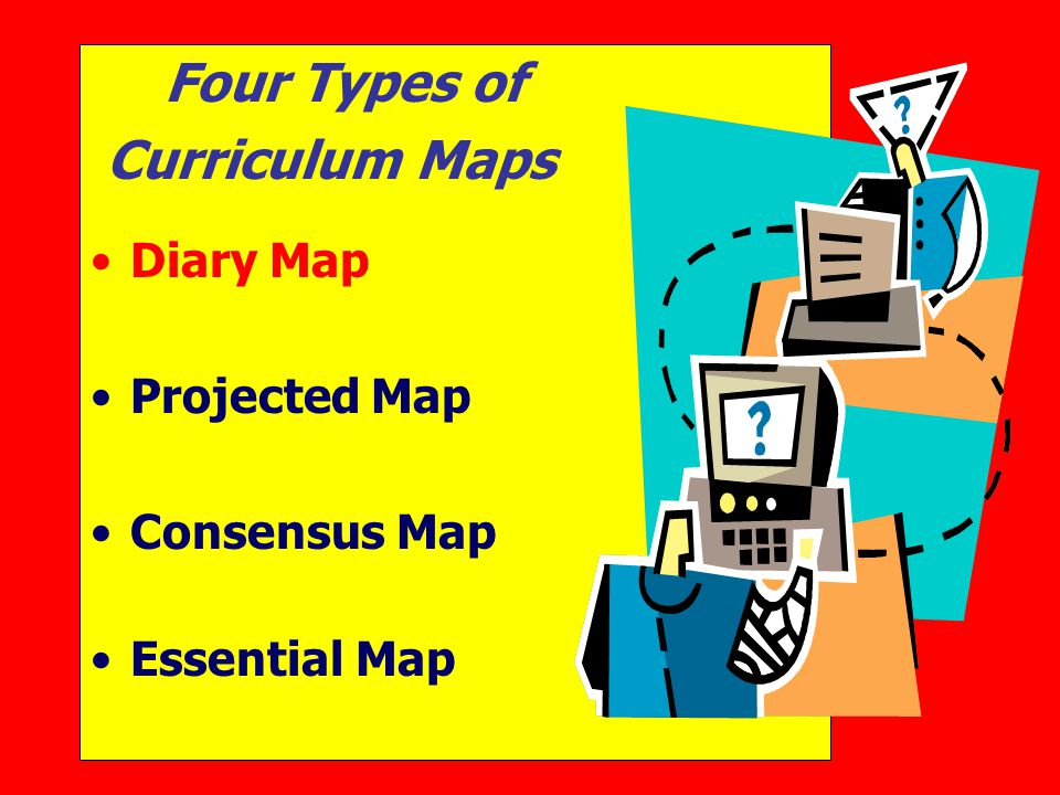 Four Types of Curriculum Maps Diary Map Projected Map Consensus Map