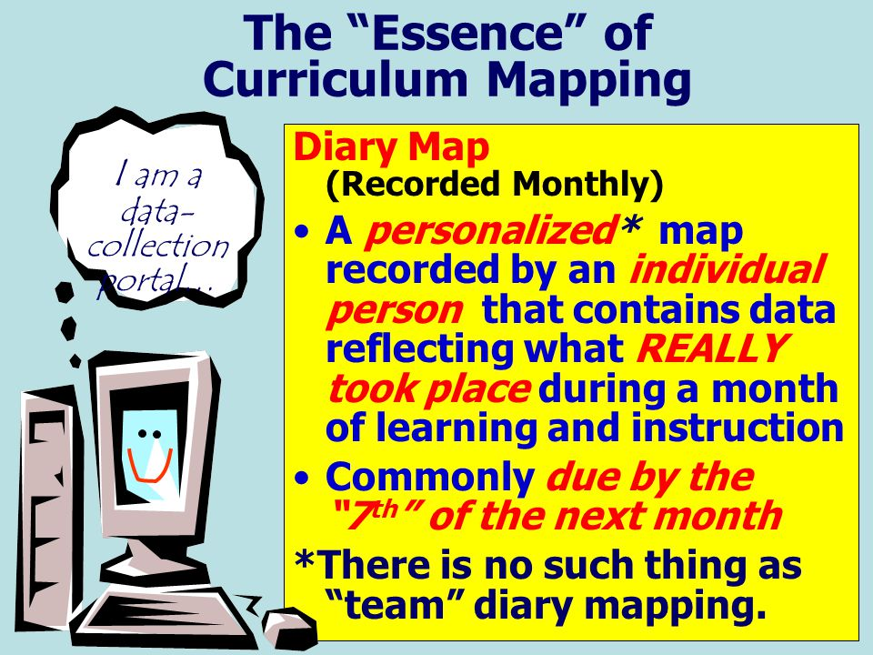 The Essence of Curriculum Mapping