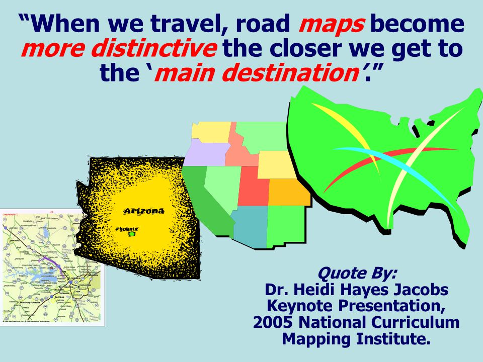When we travel, road maps become more distinctive the closer we get to the 'main destination'.