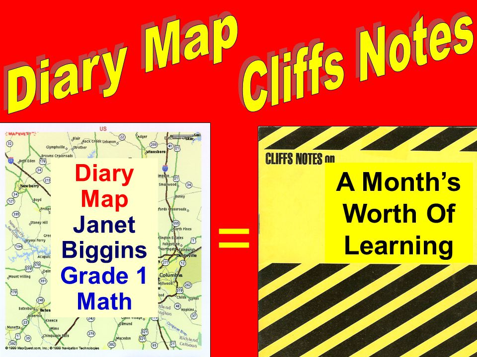 Diary Map Janet Biggins Grade 1 Math A Month's Worth Of Learning