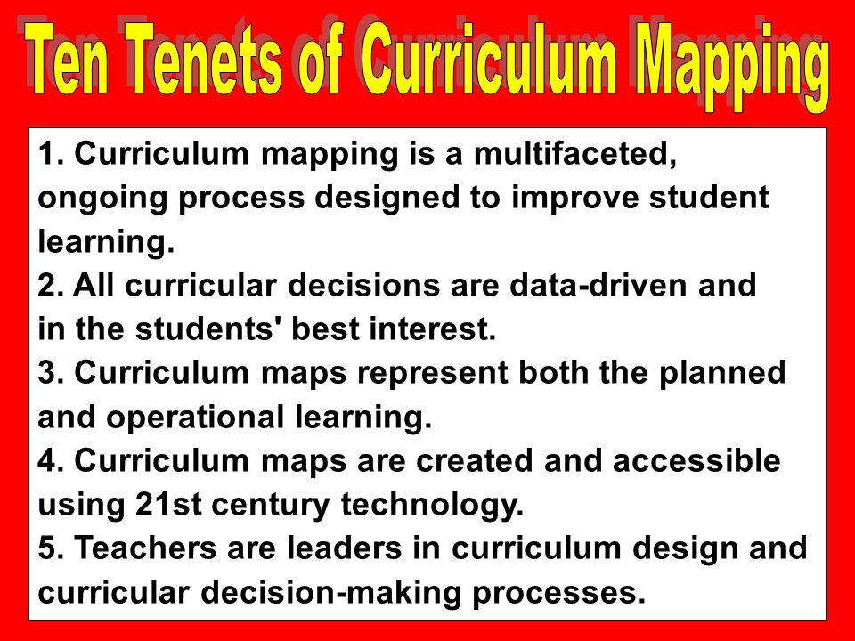 Ten Tenets of Curriculum Mapping