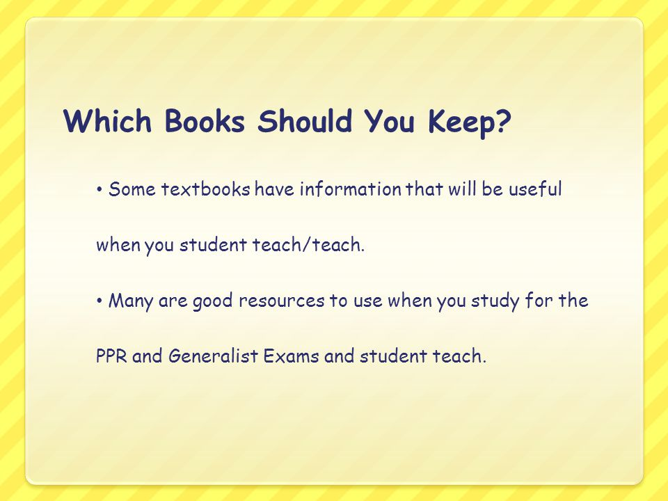 Which Books Should You Keep