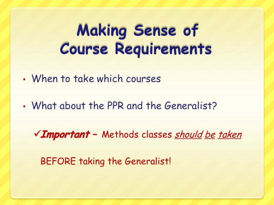 Making Sense of Course Requirements