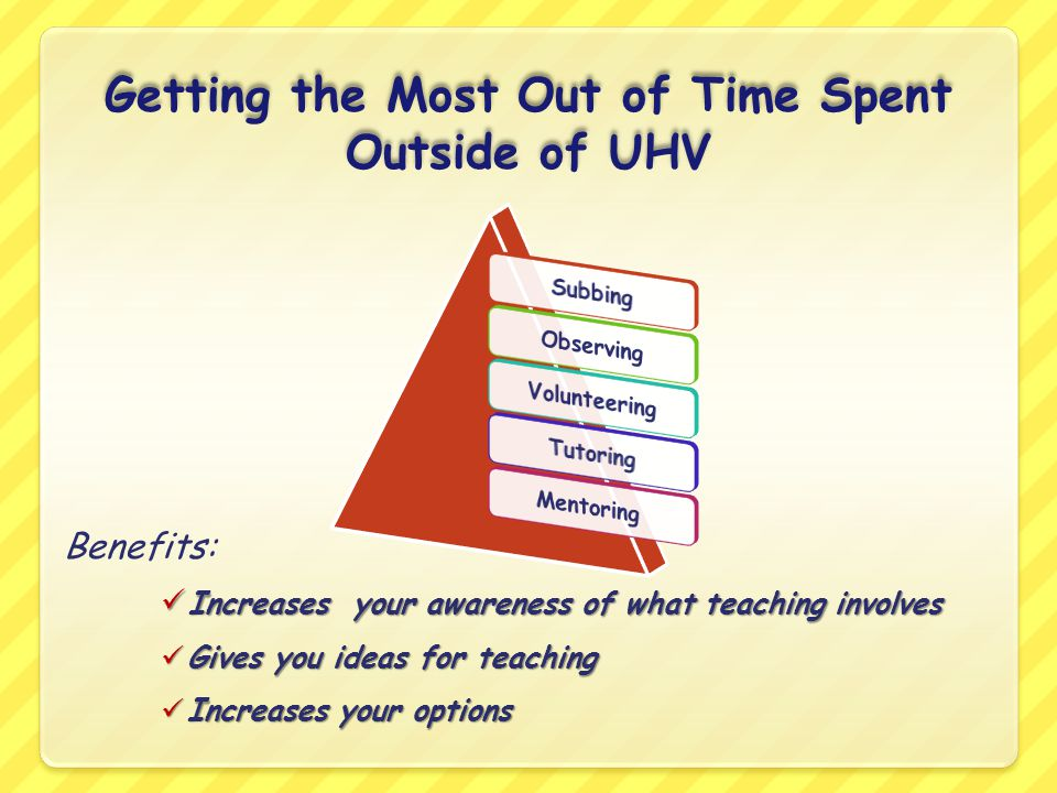 Getting the Most Out of Time Spent Outside of UHV