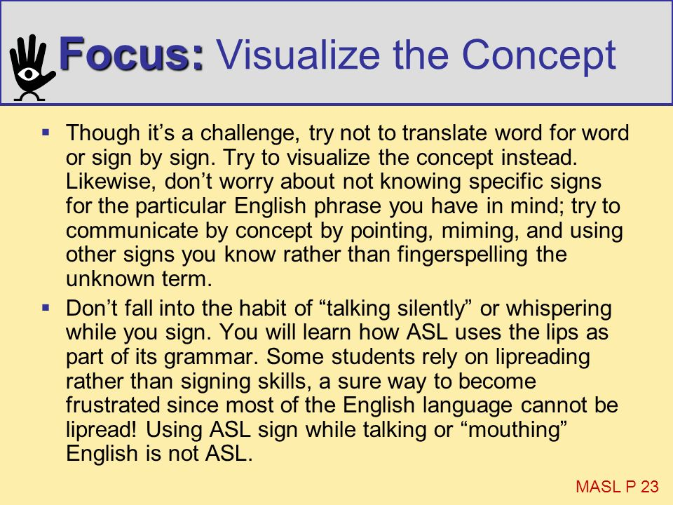 Focus: Visualize the Concept
