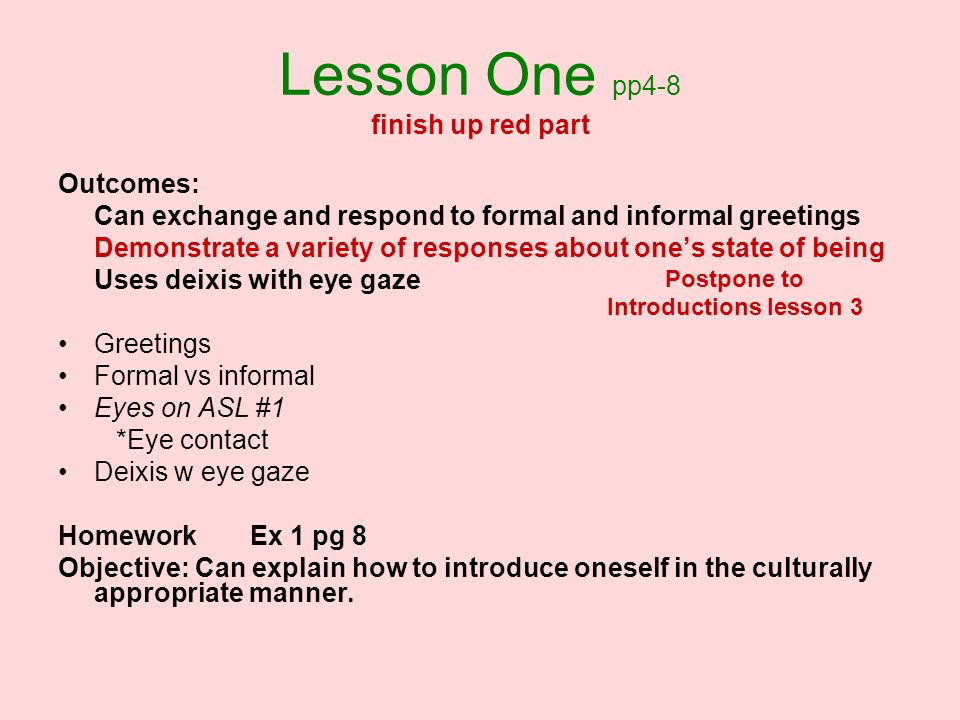 Lesson One pp4-8 finish up red part