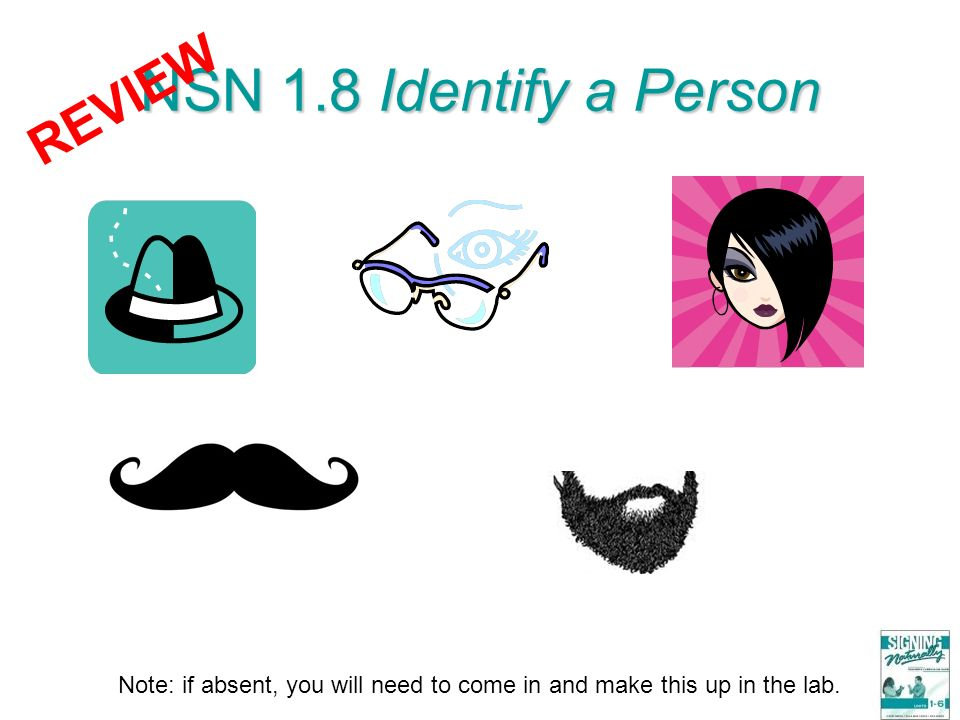 NSN 1.8 Identify a Person REVIEW