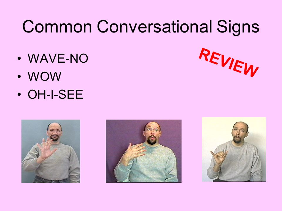 Common Conversational Signs