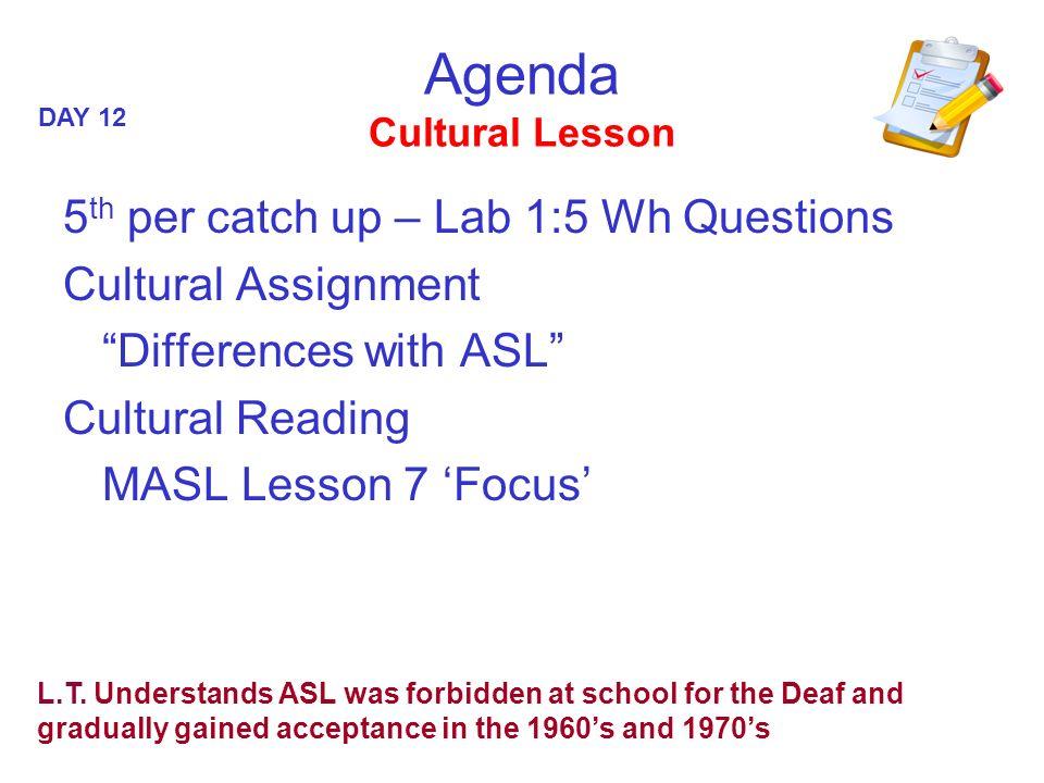 Agenda Cultural Lesson
