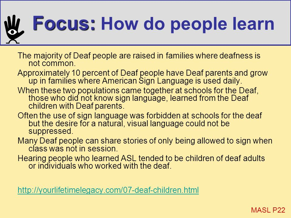 Focus: How do people learn