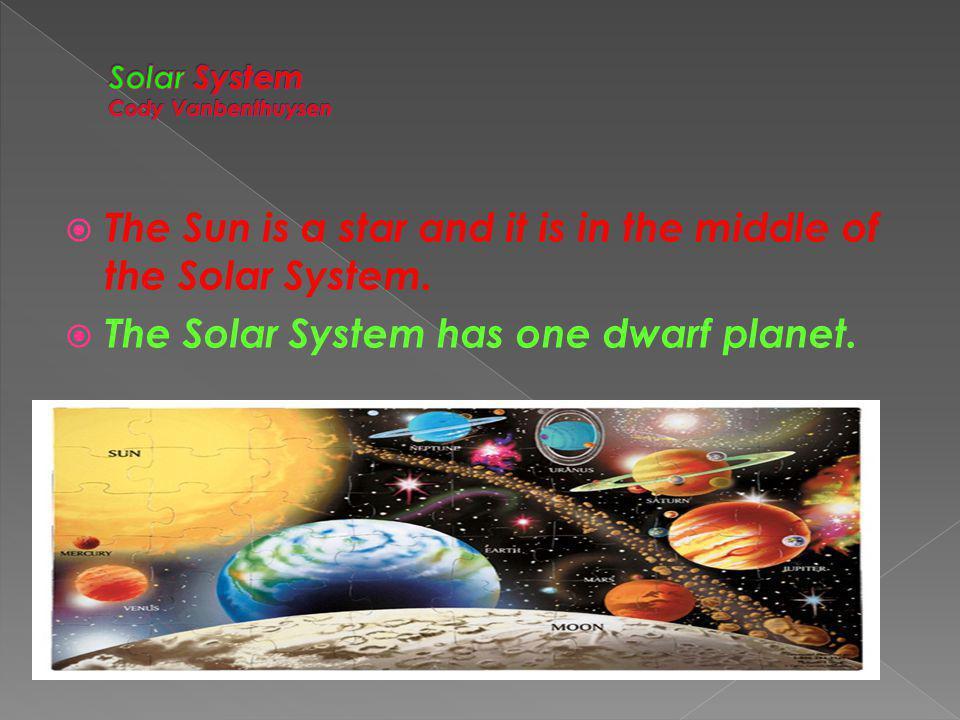 Solar System Cody Vanbenthuysen