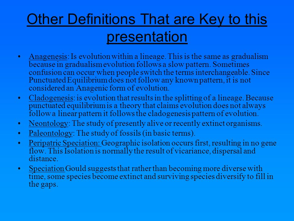 Other Definitions That are Key to this presentation